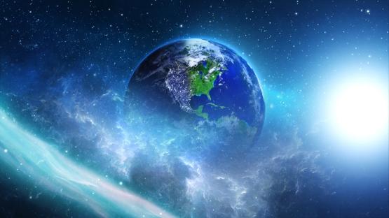 bigstock-planet-earth-with-sun-in-unive-760753161